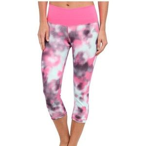 Adidas Blurred Flower Mid-Rise Tights